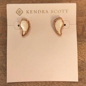 KENDRA SCOTT Rose gold Pearl Teardrop Earrings